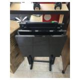 3 Black tv trays w/holder