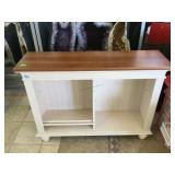 Hall table w/shelves, approx 47x13x34 inches