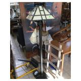 Approx 5 ft tall floor lamp w/plastic shade