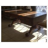 Vintage wooden Partners table with storage on