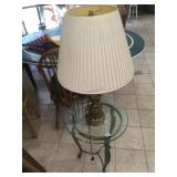 Lamp and end table.