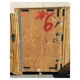 Wooden storage crate w/contents, costumer must