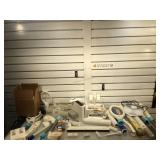 Large lot of Wii and accessories, power on, see