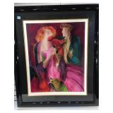 Large framed Linda Le Kinff seriolithograph plate