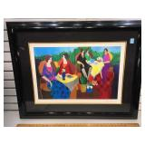 Framed Tarkay seriolithograph plate signed titled