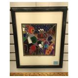 Framed seriolithograph signed by artist on the