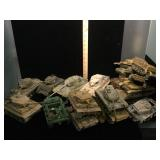 Lot of  model tanks some w/missing parts and more