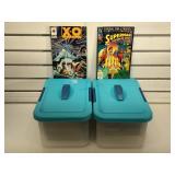 2 bins full of duplicate comics