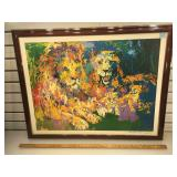 Framed signed LeRoy Neiman lithograph Tigers