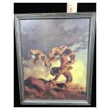 Antique framed Maxfield Parrish print