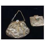 Vintage Whiting & Davis metal mesh purse and mesh