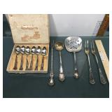 Lot of silverplated flatware