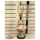 Vintage Lamp Asian Jar hand painted