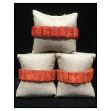 3 sponge coral bracelets