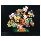 Multi gemstone prosperity tree, approx 12 inch