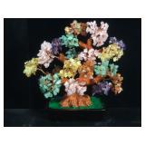Multi gemstone prosperity tree, approx 12 inches
