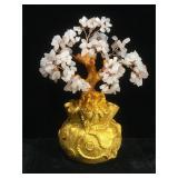 Rose quartz prosperity tree, approx 10 inches