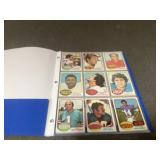 1975 topps football cards 5 pages full