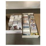 2 boxes of mixed sports cards