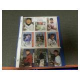 9 signed baseball cards