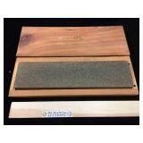 Leichtung Soft Arkansas whetstone in wooden box