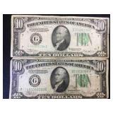 1934 B & 1934 C $10 FRN