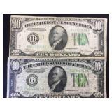 1934 & 1934 C $10 FRN