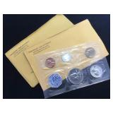2- 1962 Silver Proof Coin Sets