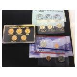 2-1980 & 2-1999 Susan B Anthony Coin Sets & 2005