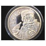 1995  1 oz .999 Fine Silver Santa C