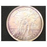 1 Troy Oz. .999  Fine Silver Mule & Prospector