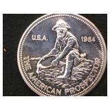 1- oz. Troy .999 Fine Silver Prospector Token