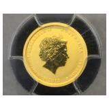 1/20 oz. Gold  2012-P  PCGS MS69 Australia Dragon