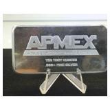 10 Troy Oz. .999 Fine Silver Bar, APMEX