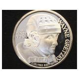 1 Troy Oz. .999 Silver Wayne Gretzky  1851 medal