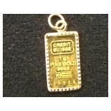 1g GOLD BAR W/ 14k Gold bezel