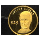 Mini Gold Coin, .73 grams, Julius Caesar $25