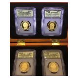 2007-S Four Coin Presidential $1 Set, First