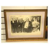 Charles Dana Gibson Lithograph in frame by Life