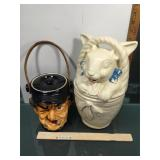 Possibly McCoy Cookie Jar and chocolate jar for