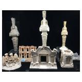 Resin artemis statues, temple of hadrion & more