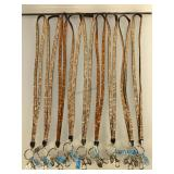 NWT Kalifano lanyards, 9 count, 2 colors