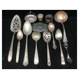 Plated silver spoons & more