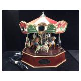 Mr Christmas millennium carousel, plays 30 songs,