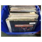 Vinyl records including Elton John, BeeGees, The