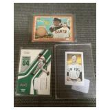Mickey mantle &  game used cards