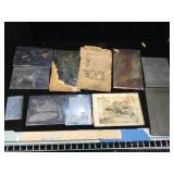 Group of antique printing plates ,animals, hunt