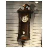 32 in Antique Vienna RA Regulator Clock, key and