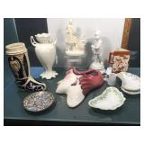 Group of vintage china and glassware, head wall
