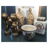 Vintage items inc Pr ceramic Chinese Ancestor